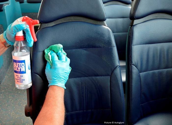 Clean a car inside