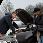 How do I jump start a car with a flat battery?