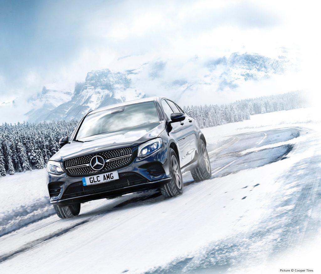Mercedes-AMG GLC in snow