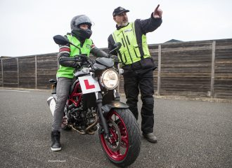 125cc bike on a motorway